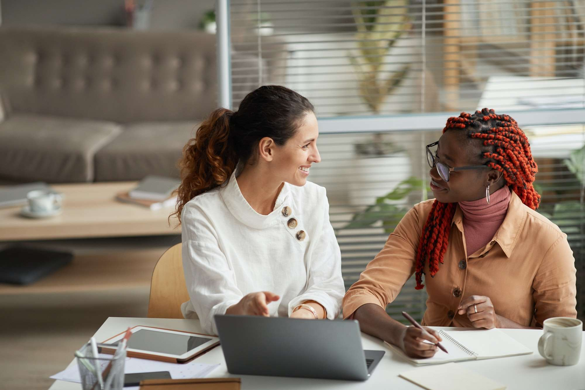 Two Female Business Owners Working
